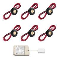 Cree LED Einbaustrahler Veranda Pals Schwarz rts | Warm Weiß | Set mit 6, 8, 10 oder 12 Stück L2229