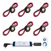 Cree LED Einbaustrahler Veranda Pals Schwarz ab | Warm Weiß | Set mit 6, 8, 10 oder 12 Stück L2208