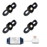 Cree LED Einbaustrahler Toledo Schwarz bas | Kippbar | Warm Weiß | Set mit 4, 6, 8, 10 oder 12 Stück L2240