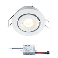 Creelux LED Einbaustrahler | Weiß | Warm Weiß | 3 Watt | Dimmbar | Kippbar L2059