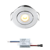 Bridgelux LED Einbaustrahler | Warm Weiß | 3 Watt | Dimmbar | Kippbar LIB20501