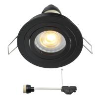 Coblux LED Einbaustrahler | Schwarz | Warm Weiß | 5 Watt | Dimmbar | Kippbar L2154
