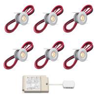 Cree LED Einbaustrahler Veranda Madrid rts | Warm Weiß | Set mit 6, 8, 10 oder 12 Stück L2226